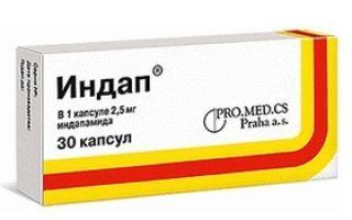 Индапамид — инструкция по применению, форма выпуска и аналоги препарата в аптеке