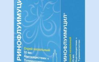 Ринофлуимуцил: инструкция по применению, аналоги спрея в нос, цена, отзывы