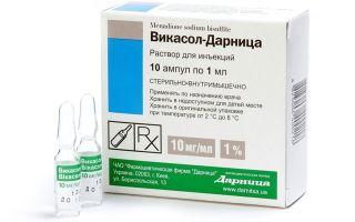 Викасол ампулы: инструкция по применению, цена и описание медикамента