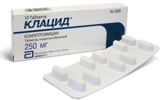 Клацид: что за препарат и как его принимать, инструкция по применению и цена в аптеке