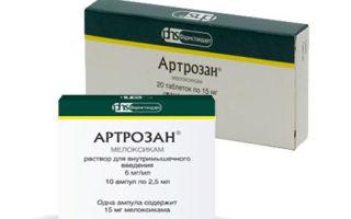 Артрозан: инструкция по применению, состав и форма выпуска препарата