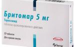 Бритомар: инструкция по применению, отзывы покупателей и цена 5 и 10 мг, аналоги препарата