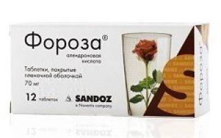 Фороза: инструкция по применению, цена в аптеке, отзывы и аналоги препарата