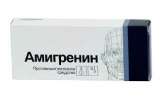 Амигренин: инструкция по применению, цена и отзывы покупателей, другие аналоги из категории