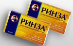 Ринза таблетки: инструкция по применению, аналоги, цена и отзывы