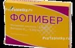 Фолибер: инструкция по применению, аналоги, препарат при планировании беременности, цена и отзывы