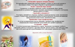 Профилактика гриппа и ОРВИ: памятка для родителей, меры профилактики заболевания у детей