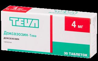 Доксазозин: инструкция по применению, фармакологическая группа и отзывы покупателей, аналоги в аптеке