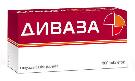 Диваза: инструкция по применению, цена, отзывы, аналоги таблеток Диваза