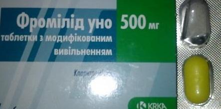 Фромилид Уно 500: инструкция по применению, цена, отзывы, аналоги