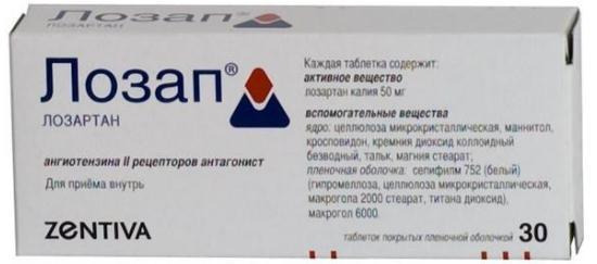 Лозап: инструкция по применению, цена, отзывы, аналоги таблеток Лозап