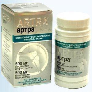 Артра: инструкция по применению, цена, отзывы, аналоги таблеток Артра