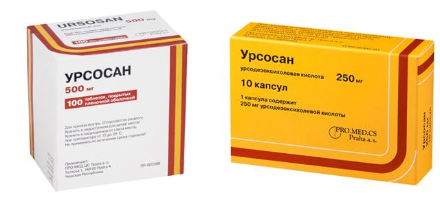 Урсосан 250 мг: инструкция по применению, цена, отзывы, аналоги