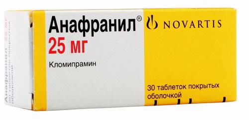 Анафранил: инструкция по применению, цена, отзывы, аналоги таблеток Анафранил