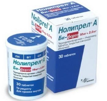 Нолипрел А 2.5 мг+0.625 мг - инструкция по применению, отзывы, цена, аналоги