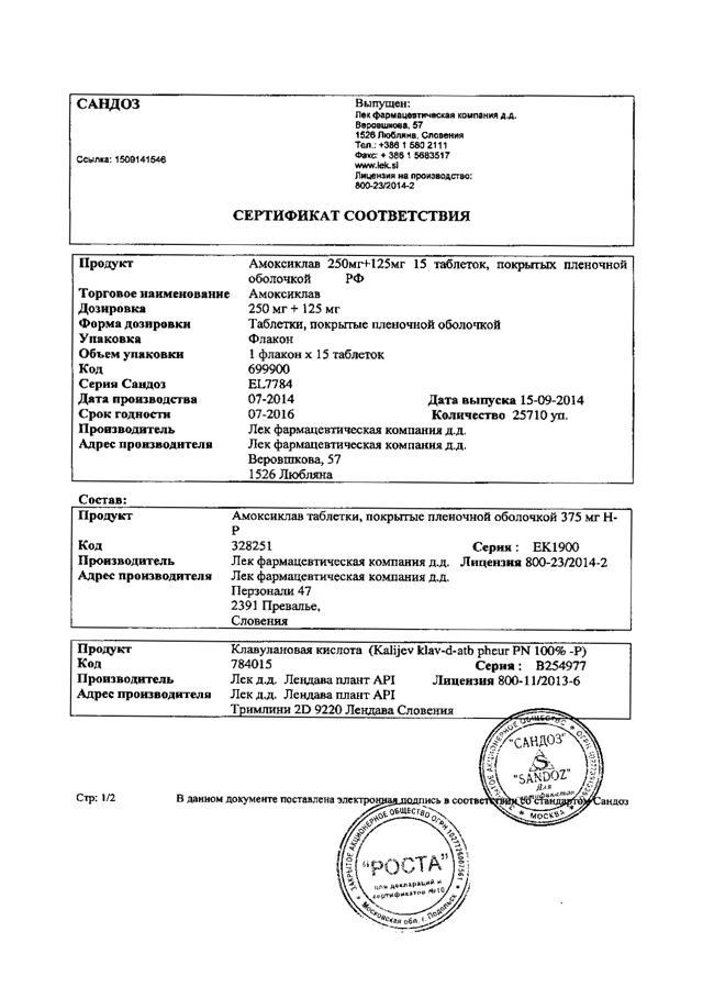Амоксиклав таблетки взрослым - инструкция по применению, отзывы, аналоги, цена 500+125, 875+125, 250+125 мг