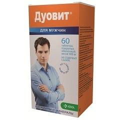 Дуовит для мужчин: инструкция по применению, цена, отзывы, состав витаминов для мужчин Дуовит