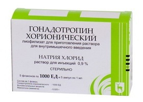 Гонадотропин хорионический: инструкция по применению, цена 1000 ЕД, отзывы
