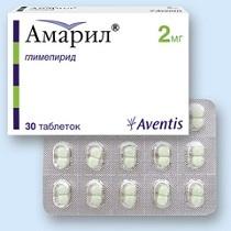 Амарил: инструкция по применению, отзывы, аналоги, цена 2 мг, 4 мг таблеток Амарил