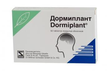 Дормиплант: инструкция по применению, цена, отзывы, аналоги