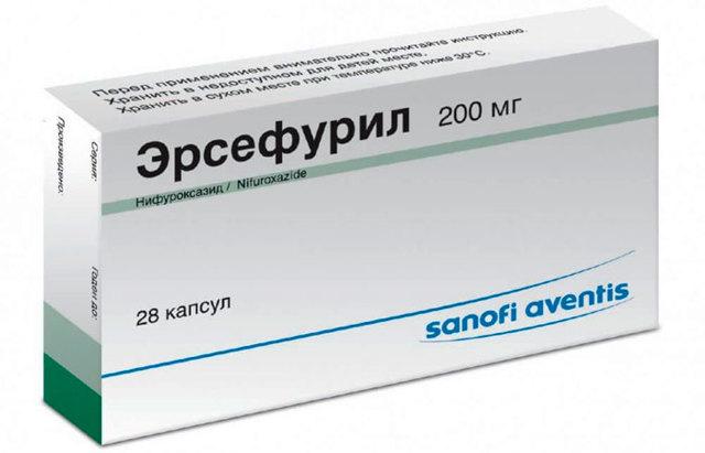 Эрсефурил: инструкция по применению, цена капсул 200 мг, отзывы, аналоги