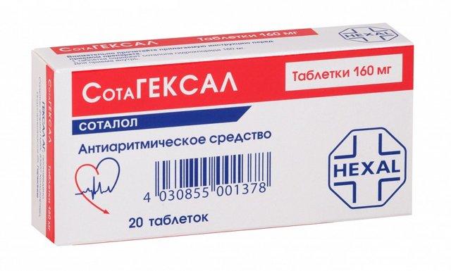 Сотагексал: инструкция по применению, цена, отзывы, аналоги таблеток Сотагексал