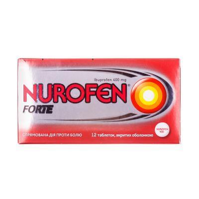 Нурофен форте: инструкция по применению, цена таблеток 400 мг, отзывы, аналоги
