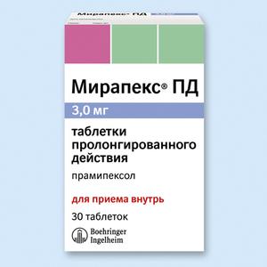 Мирапекс: инструкция по применению, цена, отзывы, аналоги