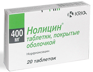 Нолицин 400 мг - инструкция по применению, цена, отзывы, аналоги