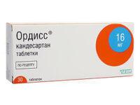 Ордисс 16 мг - инструкция по применению, цена, аналоги, отзывы