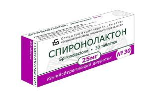 Спиронолактон: инструкция по применению, цена, отзывы, аналоги