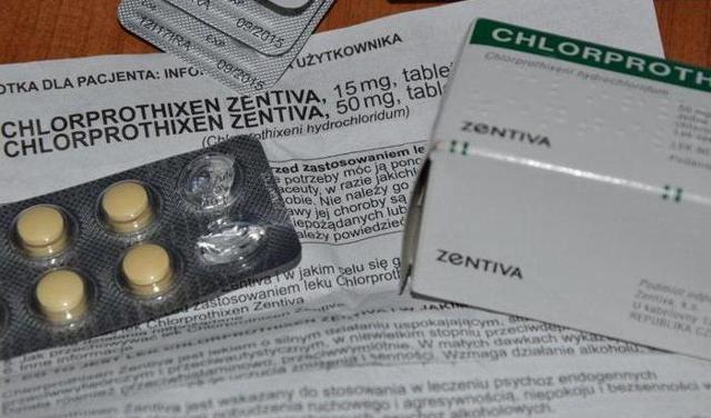 Хлорпротиксен Зентива: инструкция по применению, цена, отзывы, показания, аналоги