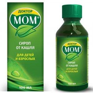 Доктор МОМ сироп от кашля: инструкция по применению, цена, отзывы, аналоги