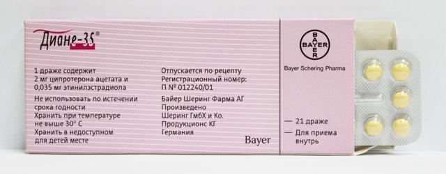 Диане-35: инструкция по применению, цена, отзывы, аналоги таблеток Диане-35