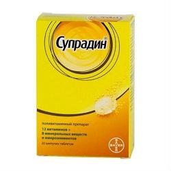 Супрадин: инструкция по применению, цена, отзывы, аналоги витаминов Супрадин