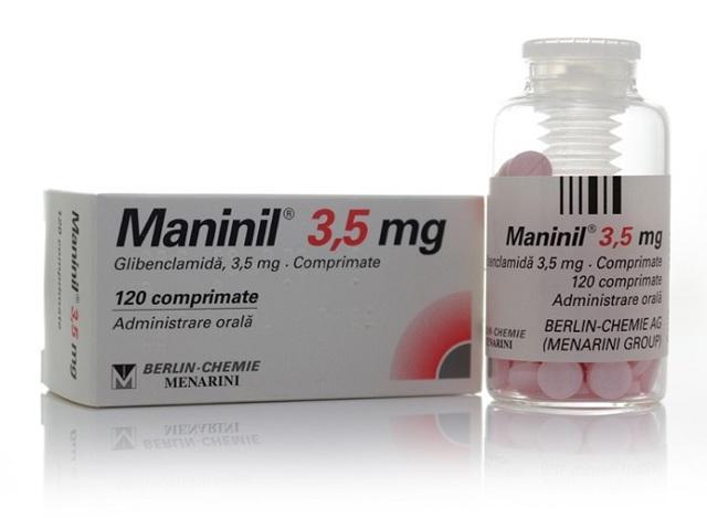 Манинил: инструкция по применению, цена таблеток 3,5 мг, отзывы, аналоги