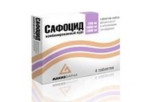 Сафоцид: инструкция по применению, цена, отзывы, аналоги таблеток Сафоцид