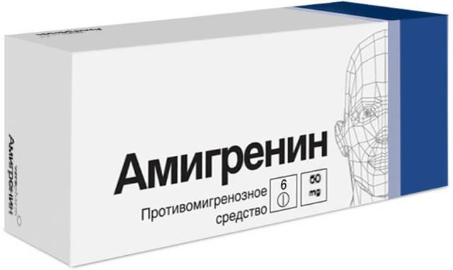 Амигренин: инструкция по применению, цена, отзывы, аналоги Амигренина