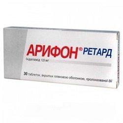 Арифон ретард: инструкция по применению, показания, цена, отзывы, аналоги таблеток Арифон ретард