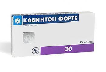 Кавинтон Форте 10 мг - инструкция по применению, цена, отзывы, аналоги