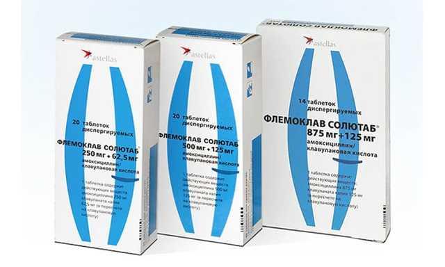 Флемоклав Солютаб 1000 мг - инструкция по применению, цена, отзывы, аналоги